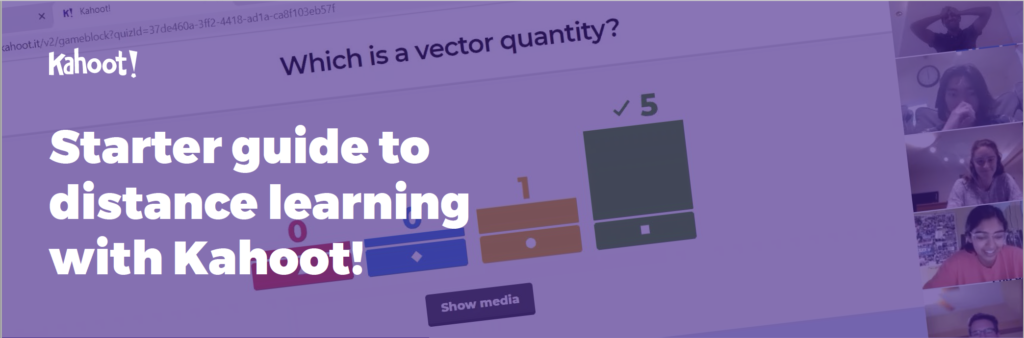 distance learning guide kahoot