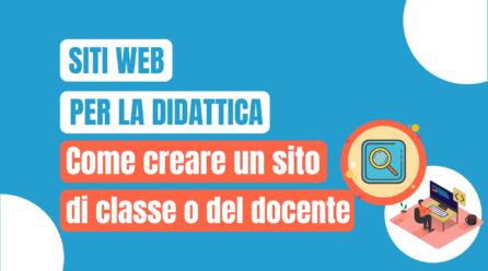 I siti web come strumenti didattici per sviluppare competenze digitali e fare divulgazione