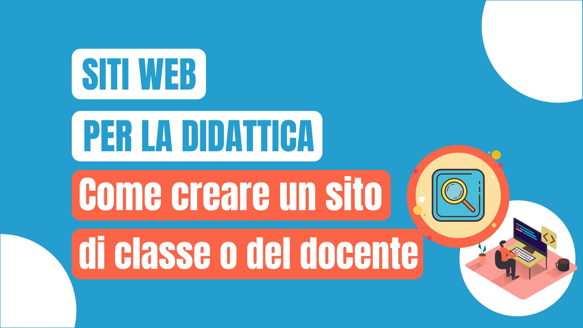 creare sito web didattica